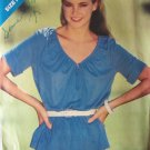 Retro 80's Butterick 3154 Raglan Sleeve Summer Top Pattern V-Neck Uncut Size 8-12