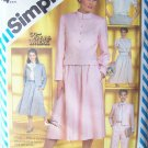 Vintage 80's Simplicity 5834 Tie Collar Blouse Cropped Jacket Flared Skirt Pants Pattern Uncut