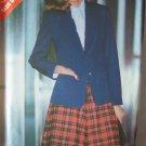 Retro 80's Butterick 3285 Notched Collar Blazer Jacket Flared Skirt Pattern Uncut Size 14-16-18