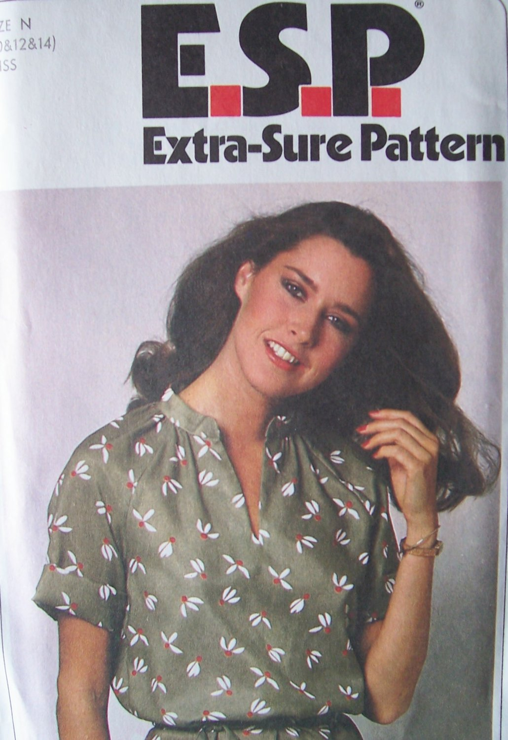 Vintage 70s Simplicity 9057 Pullover Tunic Top and Tie Belt Pattern Raglan Sleeve Uncut Size 10-14
