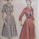 Vintage 40's Advance 6121 Wing Collar Shirtwaist Dress Pattern Size 16 Bust 34