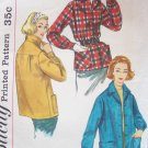 Vintage 50's Simplicity 2273 Lightweight Casual Fall Winter Jacket Pattern Size 16 Bust 36
