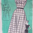 Vintage 50's Anne Adams 4666 Sleeveless Jumper Dress and Blouse Pattern Size 16.5 Bust 37