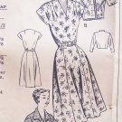 Vintage 50's Mail Order Pattern 2074 Kimono Sleeve Dress and Bolero Size 16 ½ With Envelope
