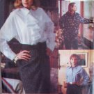 Vogue 8723 Sport Front Button Shirt Pattern Jabot Yoke or Pocket Uncut Size 18-22