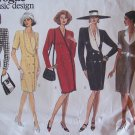 Vogue 1040 Basic Design Double Breasted Dress Pattern Uncut Size 18-22 Tapered Fit