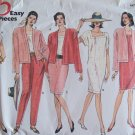 Vogue 2638 Very Easy Square Neck Top Dress Jacket Skirt and Pants Pattern Uncut Size 20-24