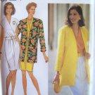 Simplicity 8223 Wrap Bodice Slim Dress Long Jacket Pattern Funnel Neck Uncut Size 18-22