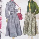 Vintage 40s Simplicity 3000 Flared Skirt Cropped Lumber Jacket Pattern Size 12 B30