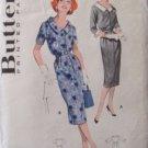 Vintage 50s Butterick 8576 Scoop Neck Slim Spectator Dress Pattern Size 20 B40