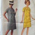 Vintage 60's Butterick 4501 Mod Double Breasted Coat Dress Pattern Uncut Size 22 ½