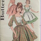 Vintage 60s Butterick 9740 Full Skirt Dress Pattern Puff Sleeve or Sleeveless Uncut Size 14