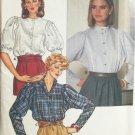 Vintage 80s Butterick 6690 Princess Seam Stand Up Collar Blouse Pattern Uncut Size 14-18