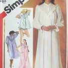 Vintage 80s Simplicity 5738 Night gown and Babydoll Sleepwear Pattern Uncut Size 14-16