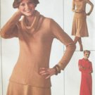 Vintage 70 Simplicity Jiffy Cowl Neck Maxi Dress Pattern or Top and Skirt Uncut Size 12-14