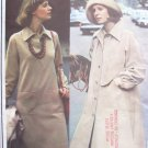 Vintage Vogue 2814 Yves Saint Laurent Coat Dress Tunic and Pants Pattern Uncut Size 12