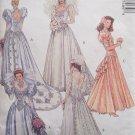 McCall's 5746 Alicyn Bridal Dress Pattern Dropped Waist Princess Seam Bridesmaid Uncut Size 12