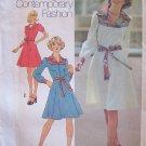 Vintage 70s Simplicity 7130 Tie Waist Yoked Top Dress Pattern Uncut Size 12