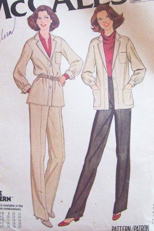 Vintage 70s McCall�s 6415 Shirt Jacket and Pants Pattern Uncut Size 12-16
