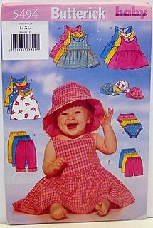 Butterick Pattern 5494 Dress, Top, Panties, Shorts, Pants and Hat