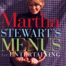 Martha Stewart Menus for Entertaining hospitality cookbook cooking
