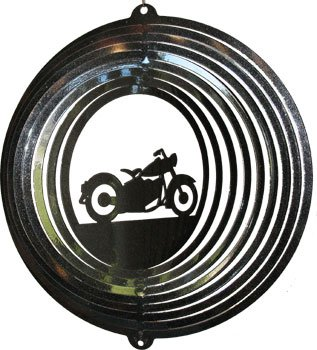 USA Motorcycle Wind Spinner - black