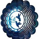 Hummingbird Wind Spinner - blue