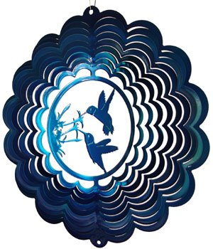 Hummingbird Wind Spinner - blue
