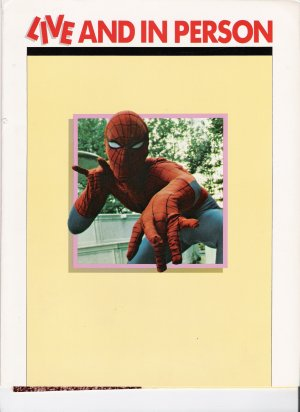 Marvel Comics : Live and In Person Promotional Catalg