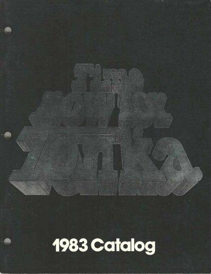 1983 Tonka Toys Catalog Fall Guy Trucks