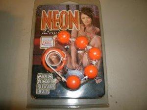 Neon Beads Medium   orange