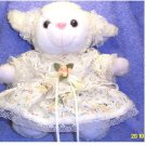LAMB IN DRESS STUFFED ANIMAL PLUSH