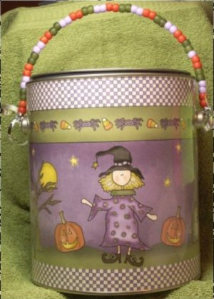 ALTERED PAINT CAN HALLOWEEN THEME    Boo Can #2