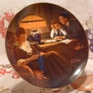 Father's Help / Edwin M. Knowles Collector Plate /  Norman Rockwell 1983