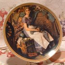 Dreaming In The Attic / Edwin M. Knowles Collector Plate /  Norman Rockwell 1983