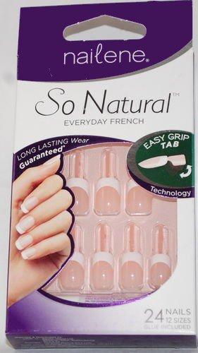 Nailene So Natural Everyday French Nail Kit / #71324 Short Sheer