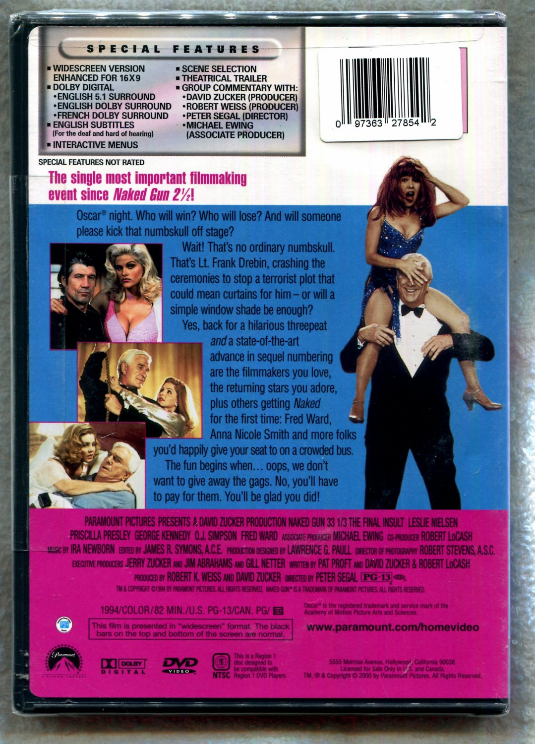 Amazon.com: The Naked Gun 33 1/3: The Final Insult: Leslie