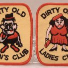 Patches Sew On Dirty Old Men's Club And Dirty Old Ladies Club Vintage 1960's