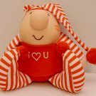 "Stuffed Plushie Ziggy Doll 7"" Red Striped PJs Tom Wilson Vintage 1989 #1"