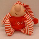 "Stuffed Plushie Ziggy Doll 7"" Red Striped PJs Tom Wilson Vintage 1989 #3"