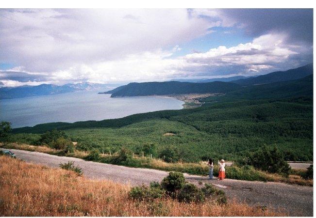 landscape of lake prespa