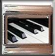 PIANO KEYS ITALIAN CHARM CHARMS