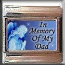 IN MEMORY OF DAD GUARDIAN ANGEL ITALIAN CHARM