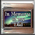 IN MEMORY OF DAD AURORA LIGHTS ITALIAN CHARM