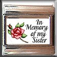 IN MEMORY OF MY SISTER RED ROSE ITALIAN CHARM