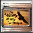 IN MEMORY OF GRANDPA EAGLE SUNSET ITALIAN CHARM