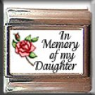 IN MEMORY OF DAUGHTER RED ROSE ITALIAN CHARM