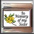 IN MEMORY OF SISTER YELLOW ROSE BUD ITALIAN CHARM