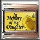 IN MEMORY OF DAUGHTER YELLOW ROSE ITALIAN CHARM