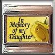 IN MEMORY OF DAUGHTER YELLOW ROSE ITALIAN CHARM